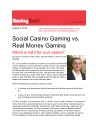 Social Gaming versus Real Money Gambling